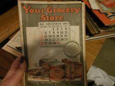Sears Roebuck Grocery Store Catalog November 1922 Food Groceries Antique Vtg
