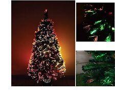 3ft 90cm Green Fibre Optic Pre Lit Christmas Tree Multi Colour Lights GIft Box