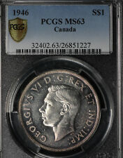 1946 Canada Silver Dollar - PCGS MS63!   RARE Doubled Die!!