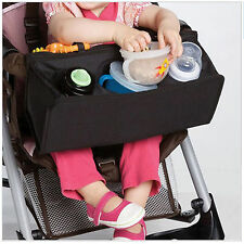 Universal Pram Stroller Front Bar Bag Snack Baby Toddler Toy Tray Bag Organiser