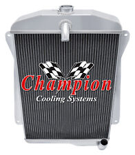 3 Row Kool Champion Radiator for 1940 1941 Chevrolet Special Deluxe L6 Engine