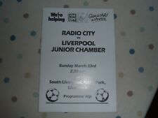 RADIO CITY V LIVERPOOL JUNIOR CHAMBER 23RD MARCH 90S CHARITY GAME