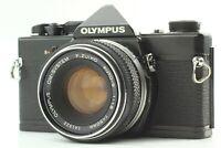 *EXC+5* Olympus OM-1 Black 35mm Camera w/ F Zuiko Auto-S 50mm f/1.8 Lens JAPAN