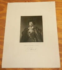 1844 Antique Print/KEMBLE IN THE CHARACTER OF HAMLET