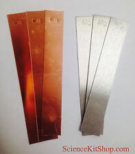 Copper Electrodes & Magnesium Electrodes (3 of each - 6 total as shown)