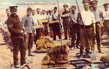 BREAD FOR THE BRITISH SOLDIERS IN FRANCE - Cpyrt Underwood & Underwood