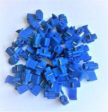 U.S.A. Blue Solderless Wire Quick Splice Connector - 14-16 Gauge - 50 Pack
