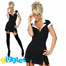 Sexy School Secretary Costume Womens Ladies Naught Teacher Fancy Dress Outfit