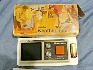 Vintage MIDLAND Weather Monitor Radio Receiver Model 13-902B Working w/ BOX