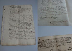 2 French Documents 1710-12, Tax Stamps Montpellier, Erwähnung Poussan