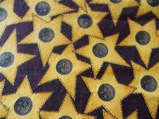 WtW Fabric Star Stars Button Country Folk USA Americana Sew Notion Quilt
