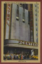'Rockefeller Center Theatre'  vintage 'Colourpicture' linen postcard   qp451