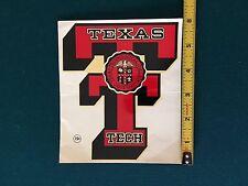 TEXAS TECH RARE ORIGINAL 50' s Decal vtg NCAA College Texas Tech Red Raiders
