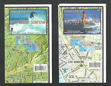 Lot Of 2 Franko'S Waterproof Maps: L.A. County Surfing & San Diego Surfing New!