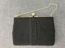 Lady Black Evening Party Small  Clutch Bag/ Chain Purse