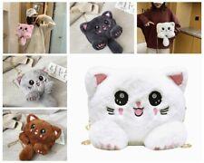 Fashion Cute Lolita Cat Plush Chain Handbag Crossbody Shoulder Bag Purse