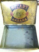 LOT Of 2 VINTAGE Tobacco/CIGAR  Tins, Mozart Habana & Edgeworth Small and Medium