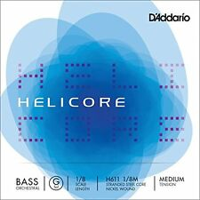 D'Addario Helicore Orchestral Bass Single G String, 1/8 Scale, Medium Tension