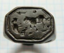 Rare ring 16-17 century lion attacks a bird