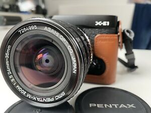 Asahi smc Pentax-m zoom 3.5/24-35mm wide angle zoom lens
