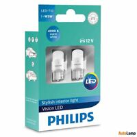 Philips LED T10 [~W5W] 12V 4000K Warm White Interior car light 11961ULW4X2 Set