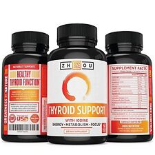 Thyroid Support Complex With Iodine for Energy Weight Loss Reducing Brain Fog
