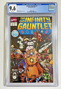 Infinity Gauntlet #1 CGC 9.6 NM+ Marvel comics 1991 Thanos