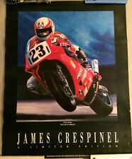 1993 international motorcycle show james crespinel ducati poster