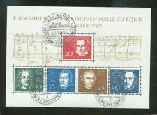 Federal BLOQUE DE BEETHOVEN BLOQUE 2 SELLO ESPECIAL sellados 70928