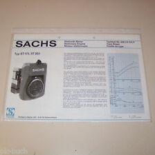 Typenblatt / Technische Daten Sachs Stationär Motor ST 175, ST 203 - Stand 1975!