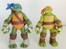 2012 TMNT Series One Michelangelo and Leonardo with weapons Viacom