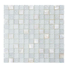 White Mother Of Pearl Shell Iridescent Glass Mosaic Tile Kitchen Bath Backsplash