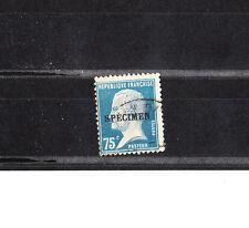 timbre France   Pasteur  75c bleu surchargé spécimen   NUM: 177 CI 1  oblitéré