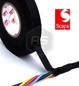 3 Rolls 9mm x 25m Scapa Rayon Fabric Cloth Wiring Harness Loom Tape