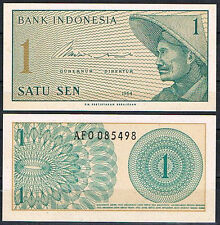 INDONESIA 1 SEN AÑO 1964  Pick 90   SC  UNC