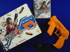 ps3 TIME CRISIS 4 + G-CON 3 GUN + Sensor Bars BOXED Namco PAL UK REGION FREE