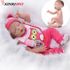 Baby Doll Reborn Lifelike Vinyl Newborn Girl Handmade Silicone 22 Gift Realistic