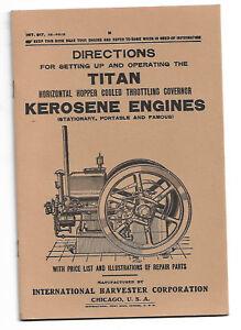 Reprint of 1915 INTERNATIONAL HARVESTER TITAN Kerosene Engine Manual 2