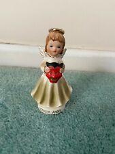 vintage small ceramic october angel figurine