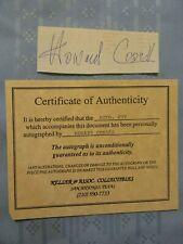 SIGNED ORIGINAL W/COA HOWARD COSELL AUTOGRAPH CUTOUT
