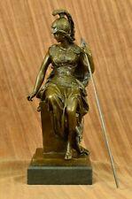 Close Out Goddess Athena Elegant Female War Classical Bronze Statue Artwork