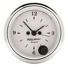 Old Tyme White 2 1/16in Quartz Clock