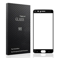 OnePlus 5 Screen Protector Premium Real Full Coverage Tempered Glass, Black Edge
