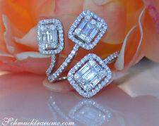 Ausgefallener Brillanten Ring mit Baguette Diamanten 1.58 ct. TW VS WG-750 8300€