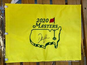 Dustin Johnson signed 2020 masters Golf flag 2021 US Open Winner? Torrey Pines!