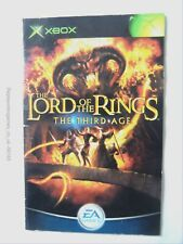 56183 Instruction Booklet - The Lord Of The Rings The Third Age - Microsoft Xbox