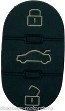 Fits Audi A2 A3 A4 A6 A8 TT 3 Button Key Fob Case Remote Rubber Buttons repair