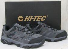 Hi-Tec Men's Jason Low Hiker Boot Shoes Grey Hiking Grip Leather Size 10.5 New