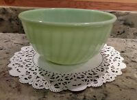 """VINTAGE #4 FIRE-KING OVEN WARE JADEITE 9"""" SWIRL MIXING BOWL"""