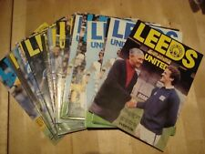 Full set of Leeds United home programmes 1979/80 - 25 programmes in all